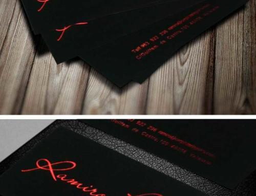 Impresión tarjetas con stamping rojo