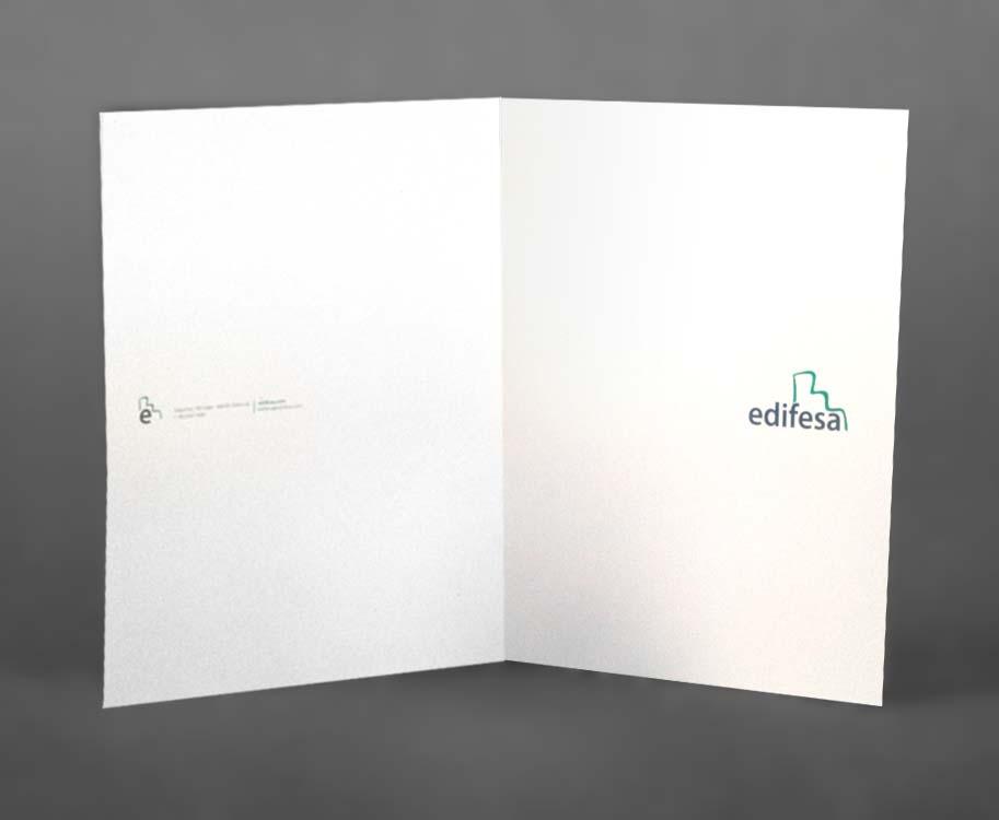 Impresión digital carpetas edifesa. imprenta digital valencia