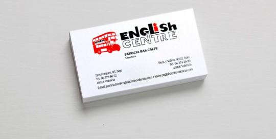 Impresión digital tarjetas corporativas english center imprenta digital valencia