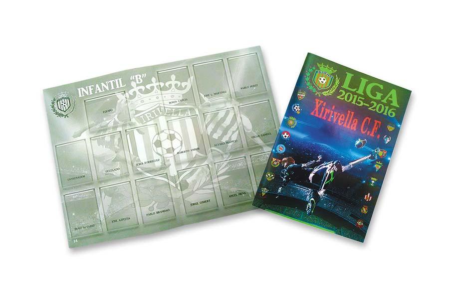 Impresion de Album cromos Xirivella imprenta digital valencia