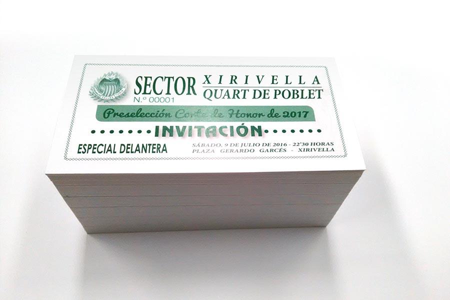 Impresion de invitaciones imprenta digital valencia