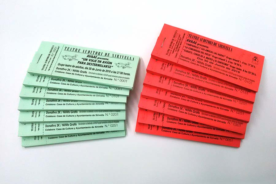 Impresion de papeletas imprenta digital valencia