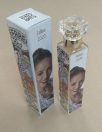frasco y caja colonia personalizado